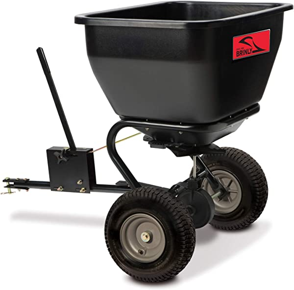 Brinly BS36BH 75 Lb Black Tow Behind Broadcast Spreader 175 Lbs