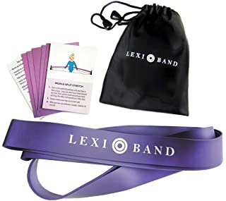 Ballet Stretch Band for Dance, Gymnastics, Cheerleading and Yoga - Increase Flexibility and Improve Your Splits - Includes a Set of Stretching Cards and Travel Bag