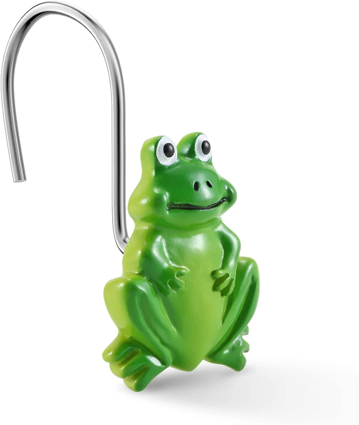 CHICTIE Frog Shower Curtain Hooks Rings Green Decorati 12 of Ranking Cheap bargain TOP4 Set