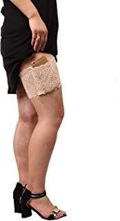 Auony Lace Purse,Non-slip Concealed Lace Thigh Holster Thigh Garter Purse with Phone Secured Pockets fits Thigh 19''-22''
