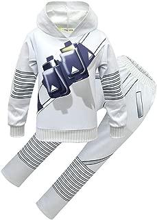 Kids Halloween DJ Cosply Costume Sweatershirt Hoodie for Kids Boys Music Fans Props