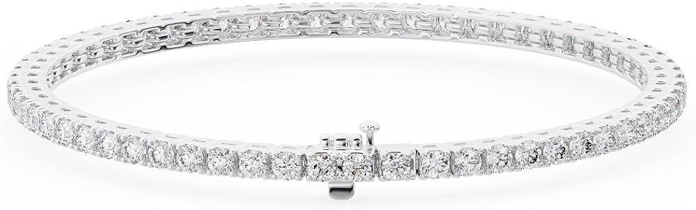 Fine diamonds r us bracciale con diamanti taglio brillante da 2,50 k disponibile in metallo oro bianco e giall FTB0164(2.20MM)