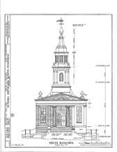 Historic Pictoric Structural Drawing HABS NY,3-Bronx,1- (Sheet 2 of 6) - Fordham Manor Reformed Church, 71 Kingsbridge Road & Reservoir Avenue, Bronx, Bronx County, NY 44in x 55in
