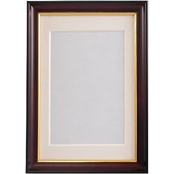 FUJICOLOR 木製額 肖像額 S10 ハガキ L ブラウン 407178