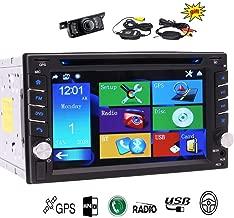 EinCar Wireless Back Camera 6.2Inch GPS Car Stereo with Double din Digital Autoradio Bluetooth Car CD DVD Player Win 8 UI FM AM Digital Radio Receiver Car Radio 8GB GPS Navigation Headunit USB/SD