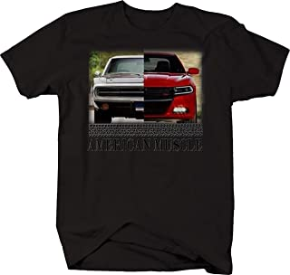American Muscle Hotrod Charger Modern & Classic Hotrod Racing T Shirt for Men