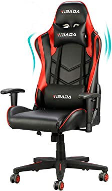 Hbada Gaming Chair Racing Style Ergonomic High Back Computer Chair with Height Adjustment, Headrest and Lumbar Support E-Spor