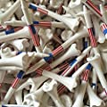 "Santa Superstore 100 2 3/4"" Pride Evolution American Flag USA Golf Tees White Wholesale"