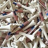 "10. Santa Superstore 100 2 3/4"" Pride Evolution American Flag USA Golf Tees White Wholesale"