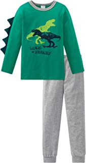 SCHIESSER Jungen Schlafanzug Pyjama Langarm Snowboarder rot  NEU *UVP 29,95
