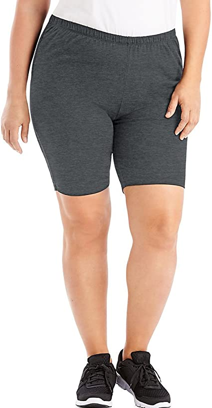 JUST MY SIZE Stretch Cotton Jersey Women's Bike Shorts at Amazon Women's Clothing store