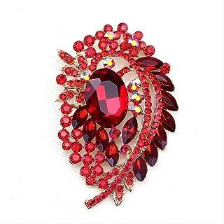 CBCJU Personalidad Creativa de Moda Broche de Cristal Accesorios de Ropa de Mujer 9.2 * 6.0cm