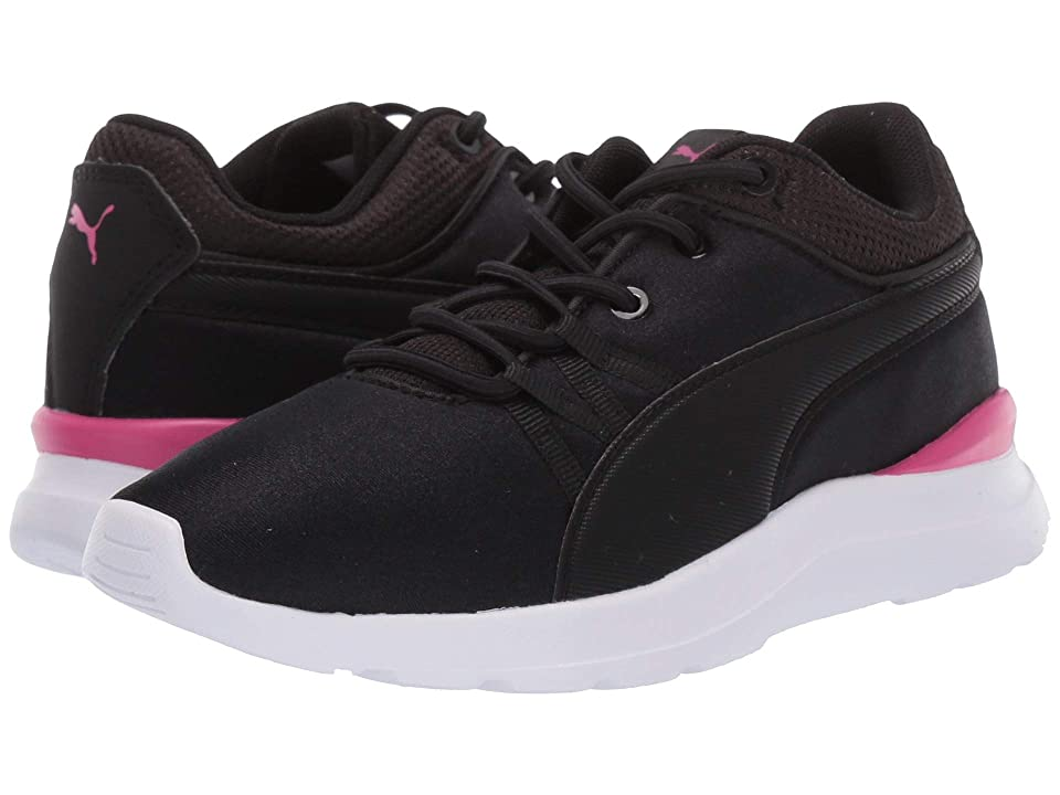 Puma Kids Adela Slip-On (Little Kid) (Puma Black/Puma Black) Girl