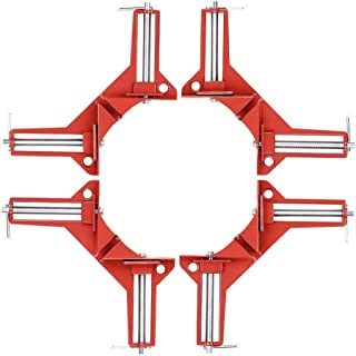 90 Degrees Right Angle Clamp 3in Corner Clamp Picture Holder Woodworking Holder(Pack of 4)