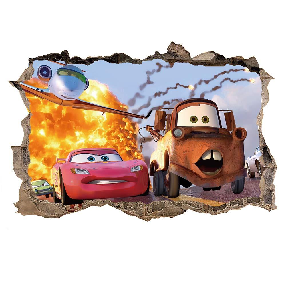 Ufengke 3d Wandtattoo Auto Wandsticker Wand Aufkleber Durchbruch Stein Wandbild Fur Kinderzimmer Junge Amazon De Kuche Haushalt