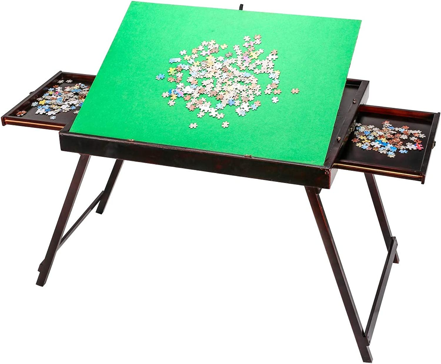 DYC Jigsaw puzzle table, Standing, Foldable, Tilting design, Suitable up to 1500pcs puzzles (With drawer)