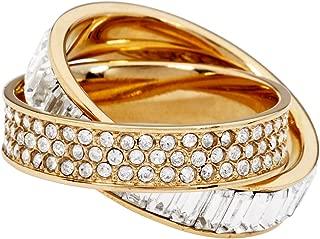 Baguette Criss Cross Gold Size 7 Ring MKJ31317107