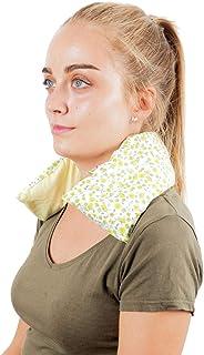 Saco Térmico Semillas Cervical - Almohada Cuello para Calentar en Microondas (50x12 cm) - Cojín de Semillas - Bolsa de Calor con Funda Lavable, Tela de Algodón 100% y Olor a Lavanda