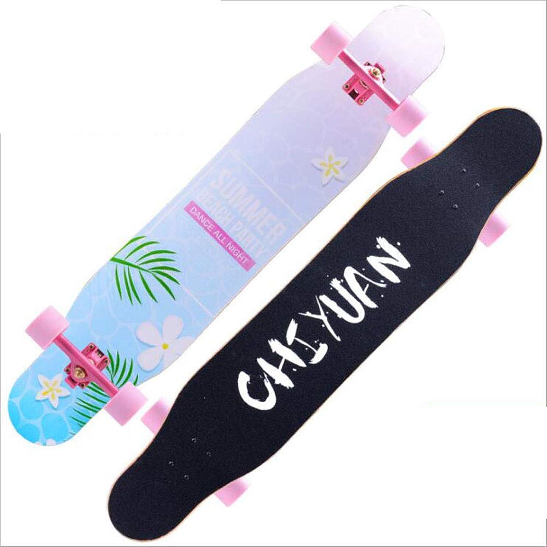 BXQDE Longboard-Skateboard mit Vier Rädern, Rädern, Rädern, Reiseroller professionelles Skateboard für Erwachsene Blitzrad,E B07KGP4X29  Ausreichende Versorgung a716ef