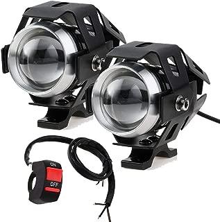 L/ámpara de faro de motocicleta Keenso 1 par de faro de motocicleta universal LED L/ámpara de faro de luz de faro antiniebla de conducci/ón