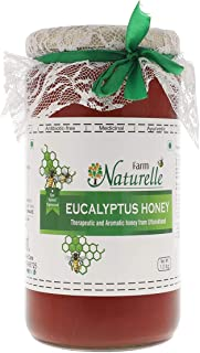 Farm Naturelle-Virgin 100% Pure Raw Natural Un-Processed Eucalyptus Forest Honey -1 KG Glass Jar