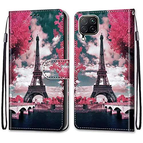 Nadoli Bunt Leder Hülle für Huawei P40 Lite,Cool Lustig Tier Blumen Schmetterling Entwurf Magnetverschluss Lanyard Flip Cover Brieftasche Schutzhülle mit Kartenfächern