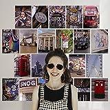 Finoly Fotos Láminas Decorativas Decoración Pared Pack 75 Unidades para Habitación Dormitorio Salón Estilos Aesthetic Tumblr (Londres)