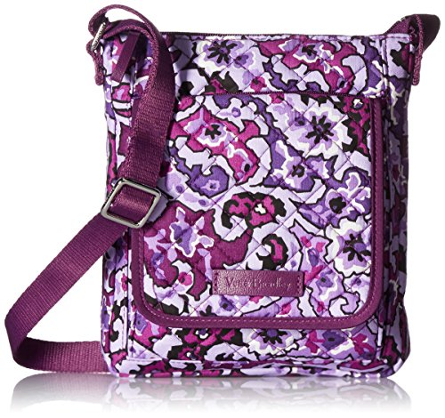 Vera Bradley Signature Cotton Mini Hipster Crossbody Purse with RFID Protection, Lilac Paisley
