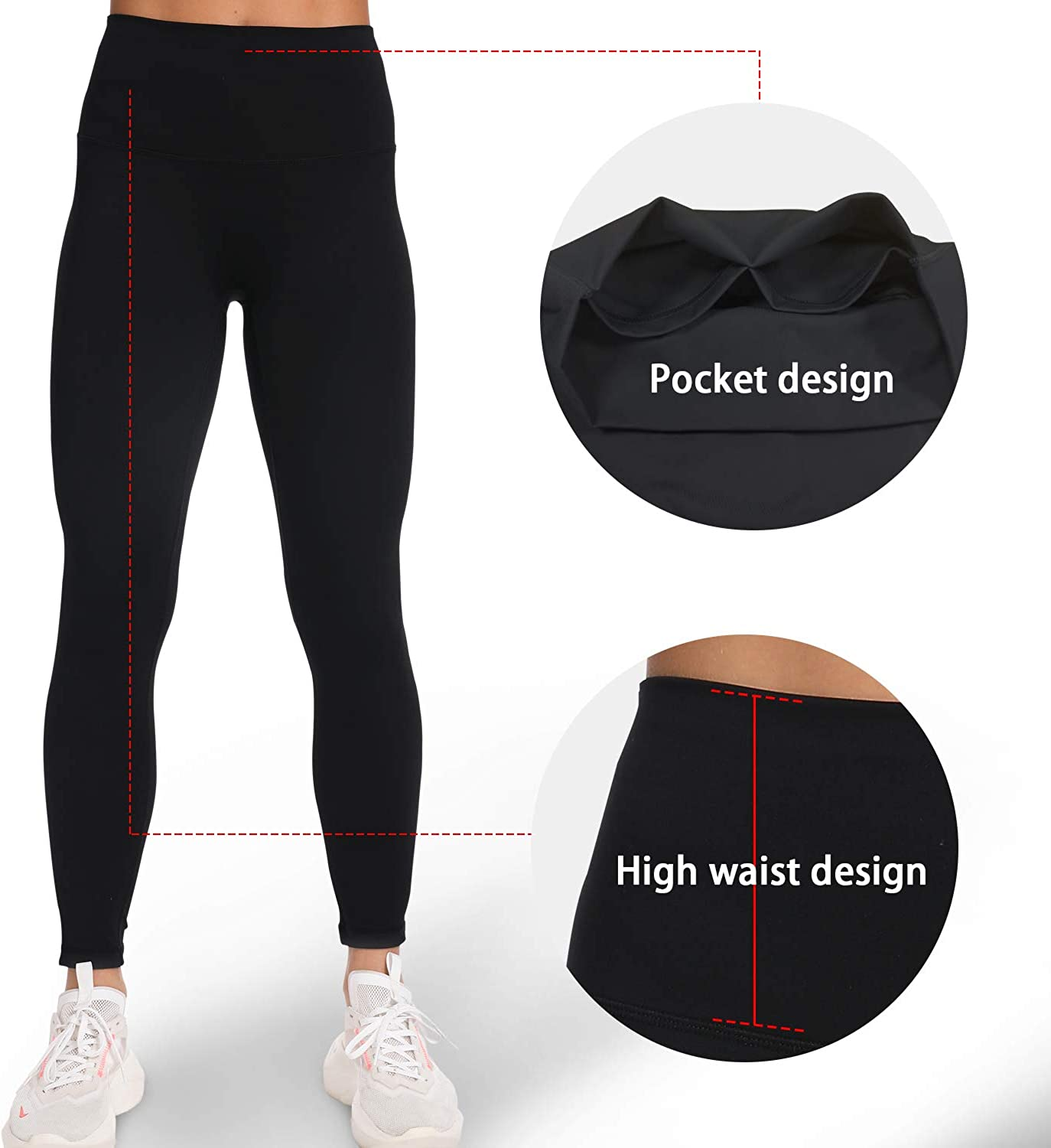 Ruched Butt Lift Workout Leggings High Waisted Yoga Pants for Women Yoga Pants with Hidden Pocket