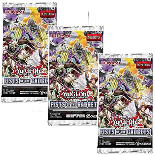 Yu-Gi-Oh! Trading Cards Cards: Fists of The Gadgets 3Pk Blister | Genuine Cards, Multicolor