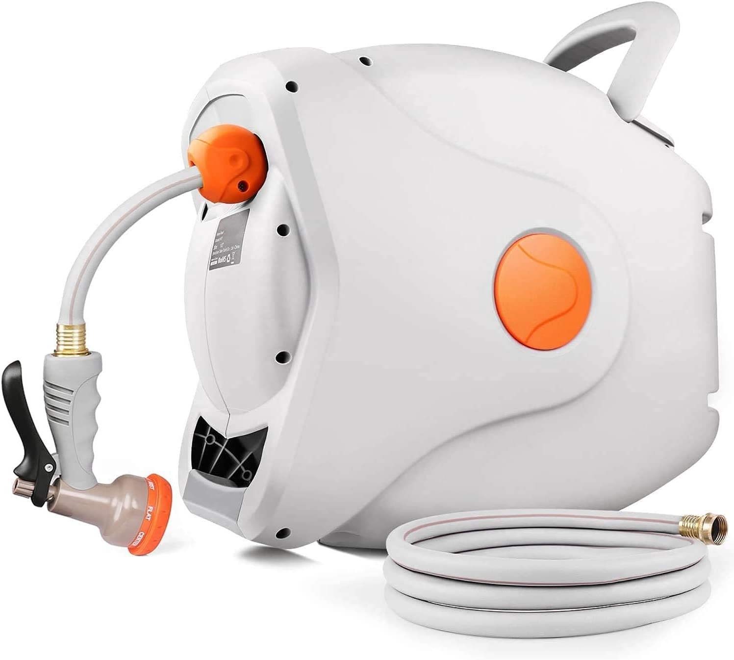 """GHR5A 82ft x 5/8""""  8ft  Wall Mounted Retractable Hose Reel $77.99 Coupon"""