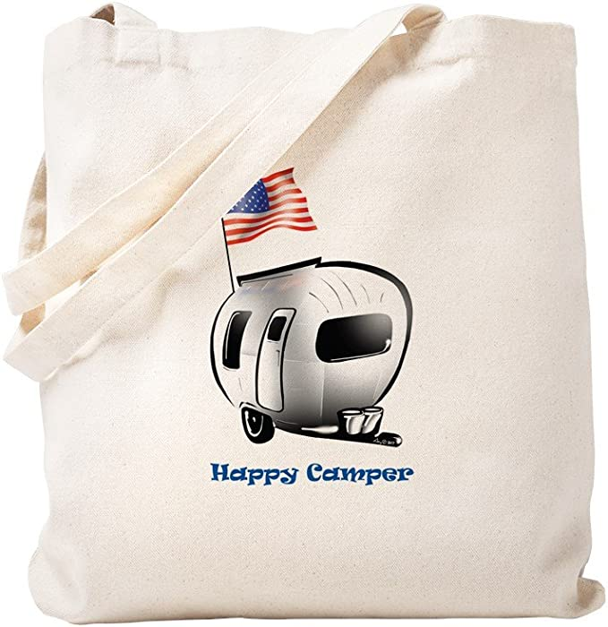 Sublimation shopping bag Ecological and reusable Tote Bag canvas fabric with caravan Tote bag fabric Camper life
