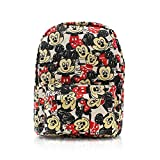Finex Mickey Mouse & Minnie Mouse Canvas Casual Daypack with 15 in Laptop Storage Compartment