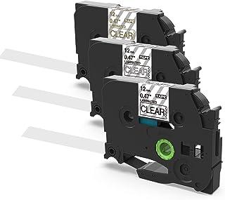 Suminey ブラザー Tze ピータッチ テープ 12mm TZe-131 TZe-134 TZe-135 透明地黒文字・白文字・金文字 ブラザー工業 ラミネート テープカートリッジ Brother P-touch tape Pタッチ ラベ...
