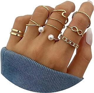 HUASAI 6 قطع حزام البطن زر للنساء روز الذهب بطن خواتم استرخى البطن زر مجوهرات للبنات البطن ثقب المجوهرات