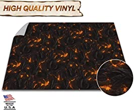 Melee Mats Battle Game Mat - 48x48 - Dungeons & Dragons Tabletop Role Playing Map - Wargaming DND - RPG Dust Warfare & Flames of War - Miniature Figure Board Games - 40k Warhammer Gaming Vinyl (Lava)