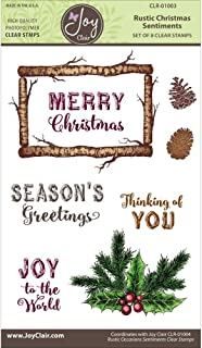 Joy Clair Clear Stamps 4x6-Rustic Christmas