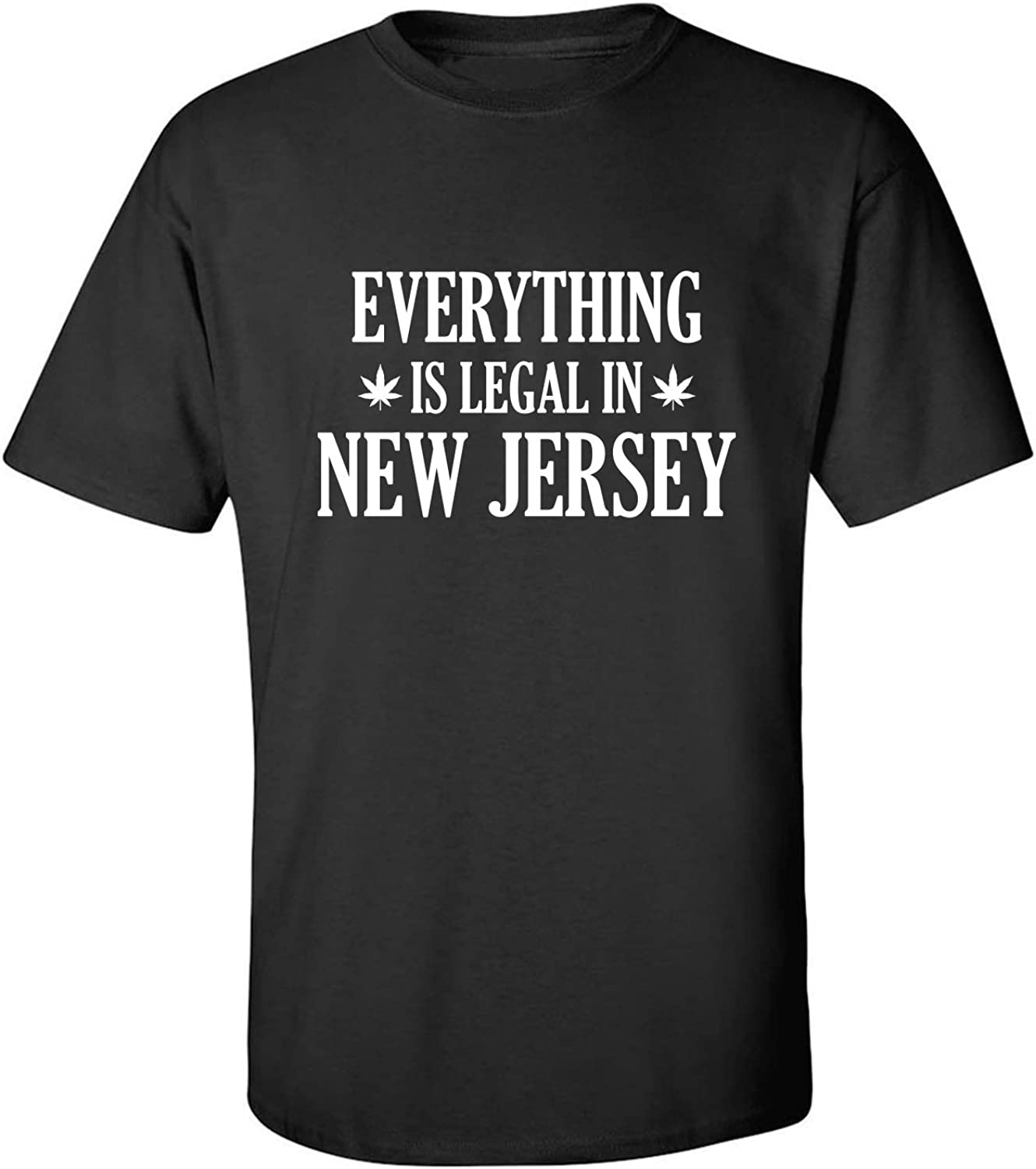 Everything is Legal in New Jersey Adult T-Shirt in Black - XXXX-Large