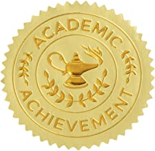 Sustainable Greetings Academic Achievement Award Sticker 1.7 Inches, Set of 96