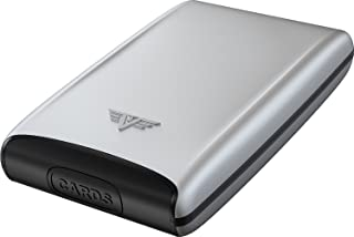 TRU VIRTU® Estuche para Tarjetas de crédito ultraliviano de Aluminio Silver Arrow Plata I Tarjetero I protección RFID-NFC ...