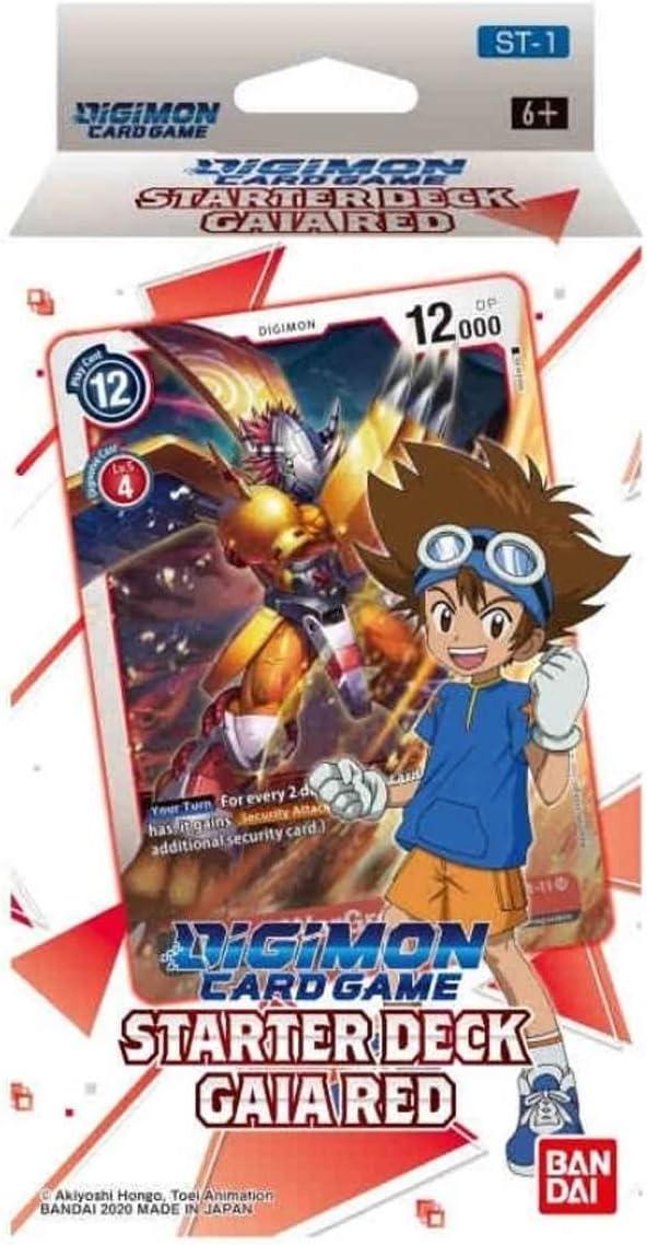 Bandai - Juego de Cartas Digimon: Starter Deck- Gaia Red - Juego de Cartas Trading