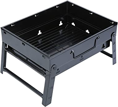 Yunge Folding Portable Grill BBQ Charcoal Grill Lightweight Barbecue Grill Tools for Outdoor Cooking Camping Garden Picnics B