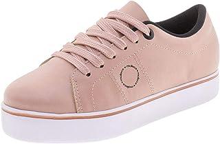 Tênis Feminino Flatform Moleca - 5284519 Rosa