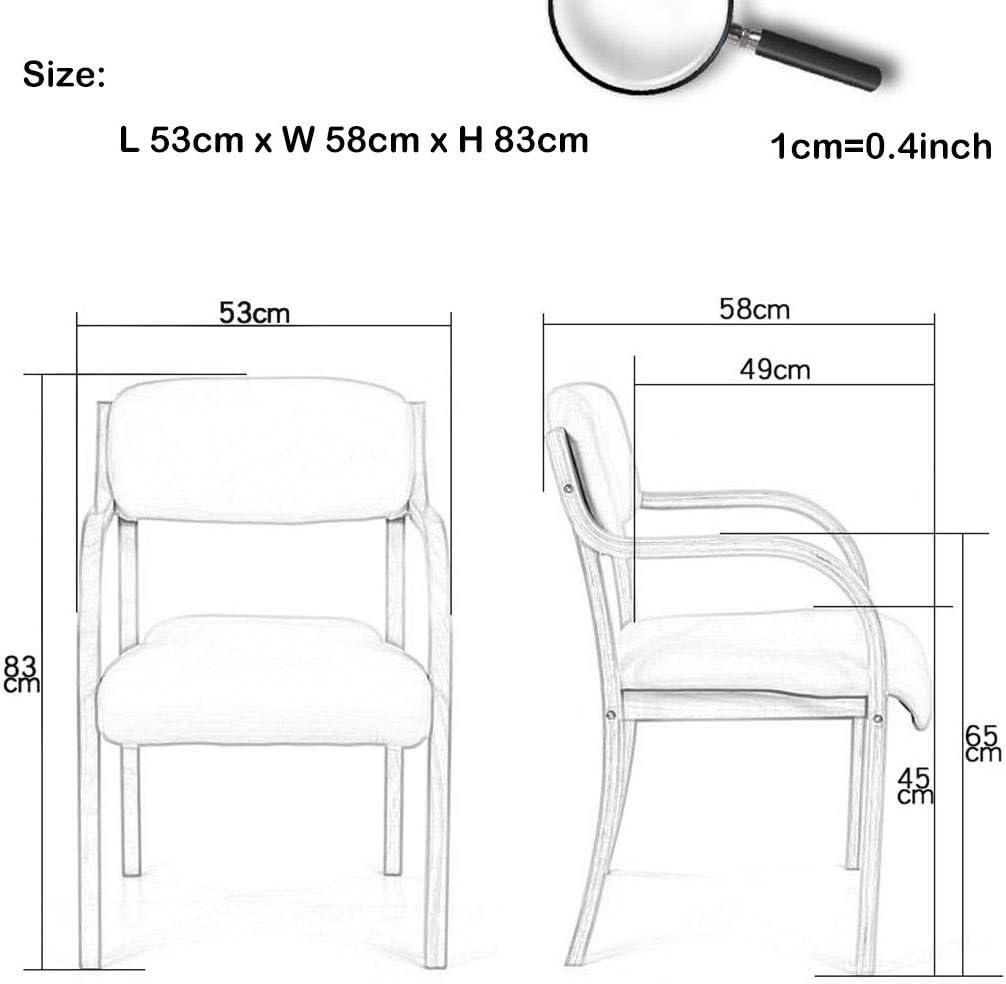 Chaises de Salle à Manger/d'appoint avec Bras, Chaise de réception contemporaine en Tissu de Coton rembourré avec Accents invités - Pieds en Bois, 4 Couleurs B