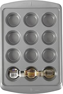 Wilton Ever-Glide Muffin Pan, Enjoy Warm homemade Muffins Right Out of Your Oven, Great for Cupcakes, Roasted Veggies, Shr...