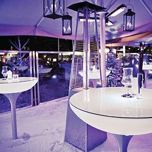 EEC A++, Moree Table de bar Lounge 105 Outdoor - Avec éclairage