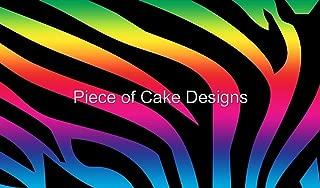 1/4 Sheet - Rainbow Zebra Stripes Birthday - Edible Cake/Cupcake Topper