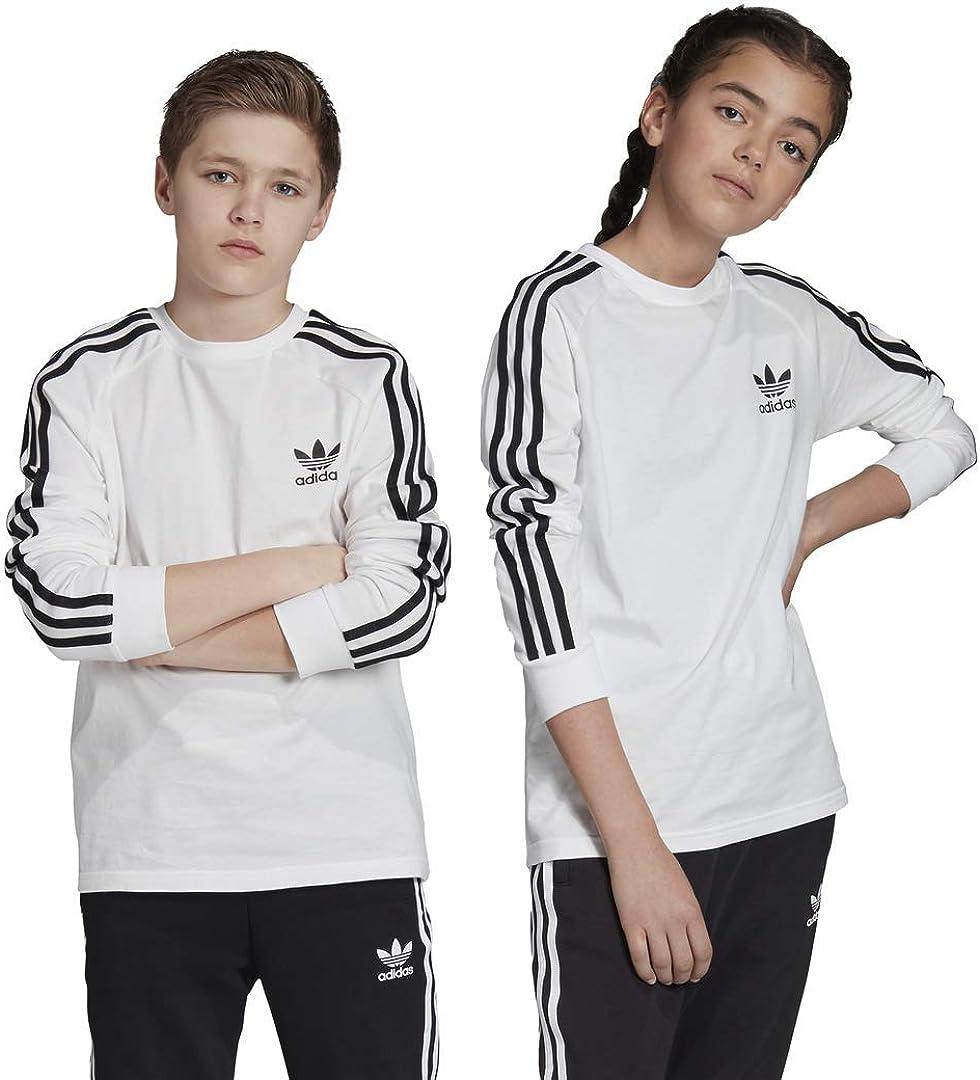 adidas Originals Kids' 3-Stripes Long Sleeve Tee : Sports & Outdoors