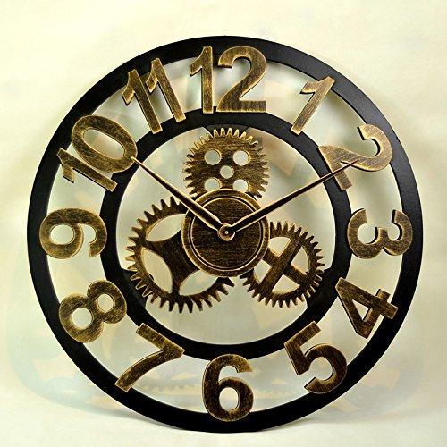 LTOOD Réveil de l'Amérique, de meubles anciens, créatif, horloge, art LOFT salon européen, personnalité créatrice, industrielle, réveil silencieux fiat ord eo 3,58 pouces.B