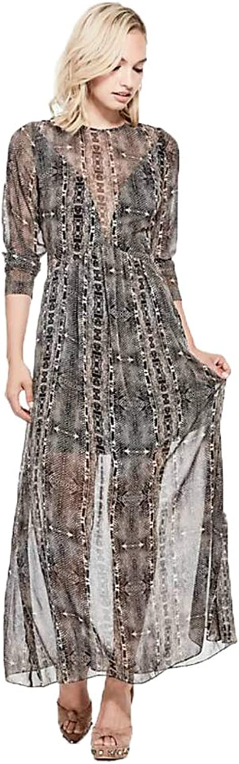 GUESS Womens Elsa Party Sheer Cocktail Dress